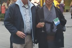 Ken Lamb and Takuhiro Yamada at the PJG reception