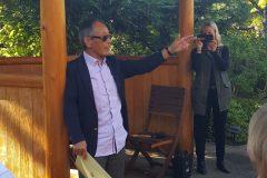 Hoichi Kurisu at Lebanon Hospital Garden