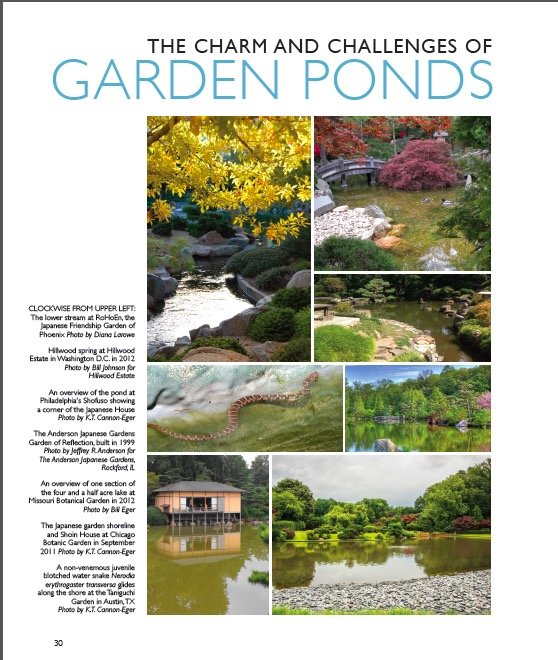 """The Charm and Challenges of Garden Ponds"" – Excerpts from the 2014-2015 NAJGA Journal"